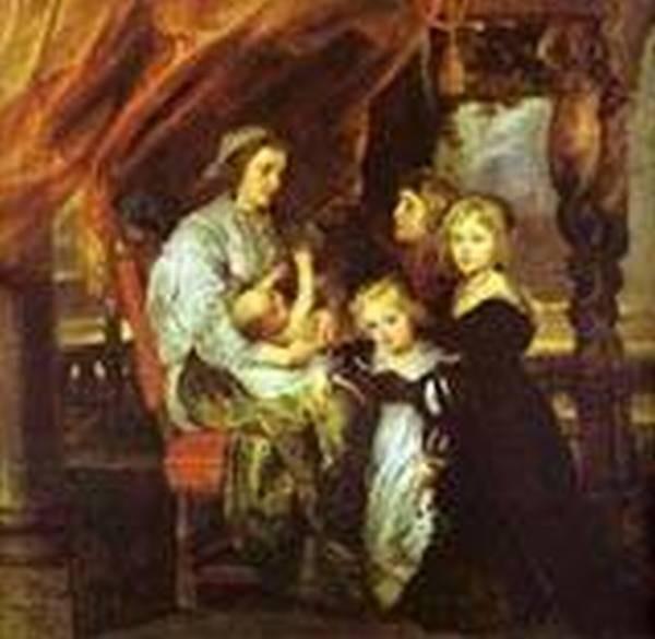 deborah kip wife of sir balthasar gerbier and her children 1629 1630 XX washington dc usa